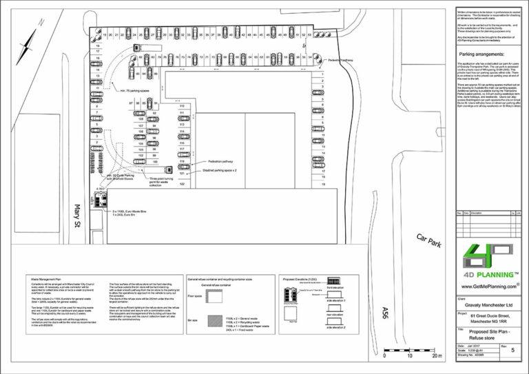 Site-Plan-parking-arrangements-Trampoline-Park-Manchester_City_Council_Granted_Permission
